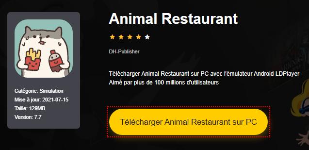Installer Animal Restaurant sur PC