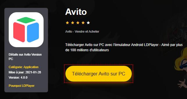 Installer Avito sur PC