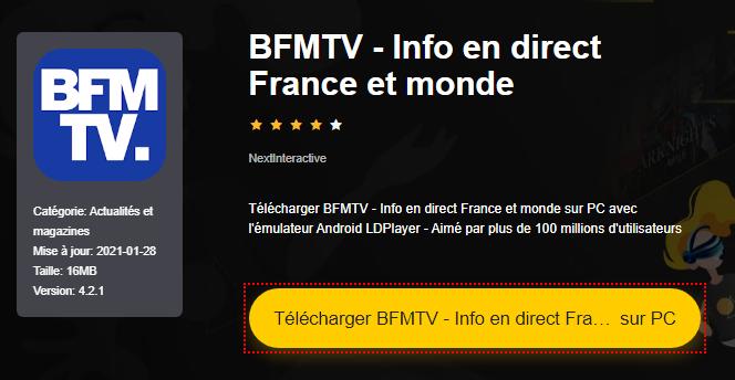 Installer BFMTV - Info en direct France et monde sur PC