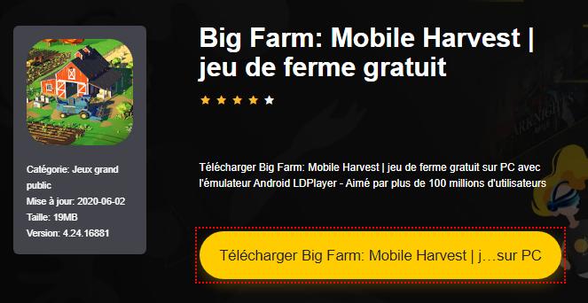 Installer Big Farm: Mobile Harvest   jeu de ferme gratuit sur PC