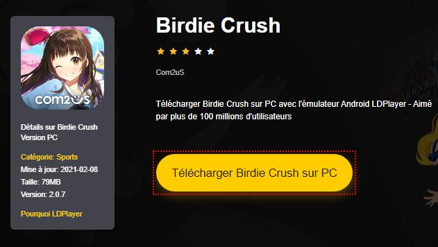 Installer Birdie Crush sur PC