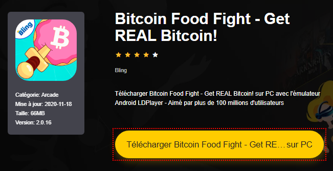 Installer Bitcoin Food Fight - Get REAL Bitcoin! sur PC