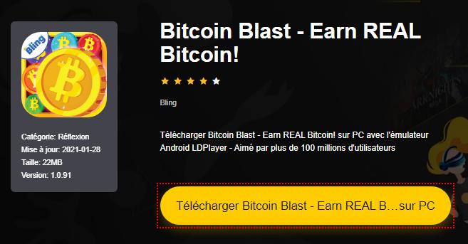 Installer Bitcoin Blast - Earn REAL Bitcoin! sur PC