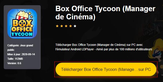 Installer Box Office Tycoon (Manager de Cinéma) sur PC