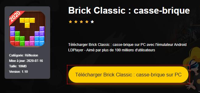 Installer Brick Classic : casse-brique sur PC