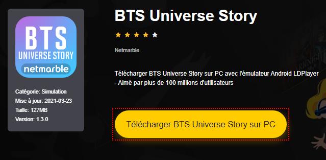 Installer BTS Universe Story sur PC