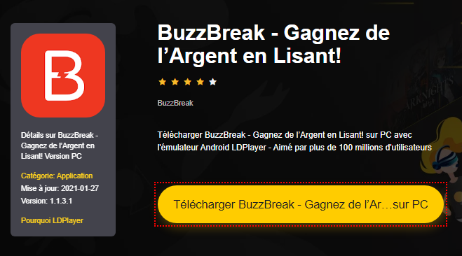 Installer BuzzBreak - Gagnez de l'Argent en Lisant! sur PC