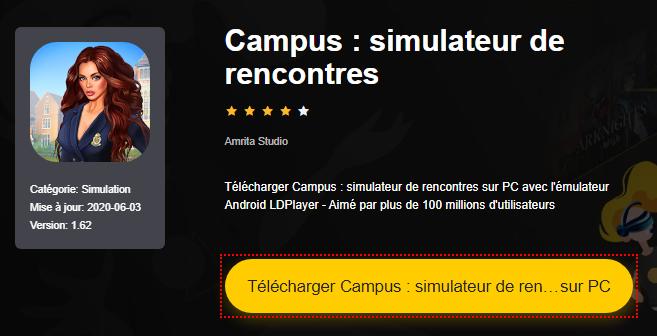 Installer Campus : simulateur de rencontres sur PC
