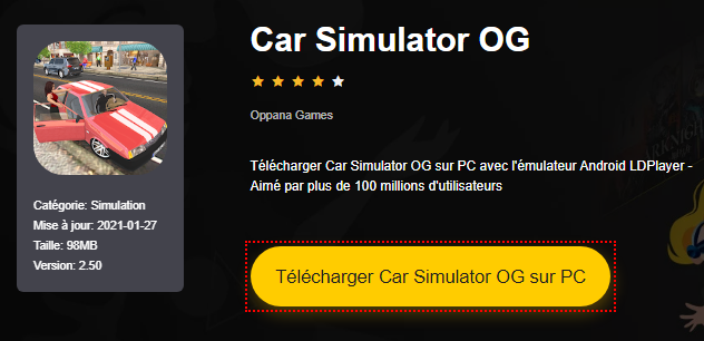 Installer Car Simulator OG sur PC