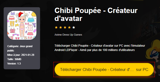 Installer Chibi Poupée - Créateur d'avatar sur PC