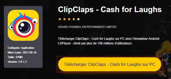 Installer ClipClaps - Cash for Laughs sur PC