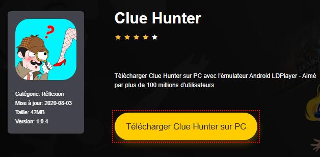 Installer Clue Hunter sur PC