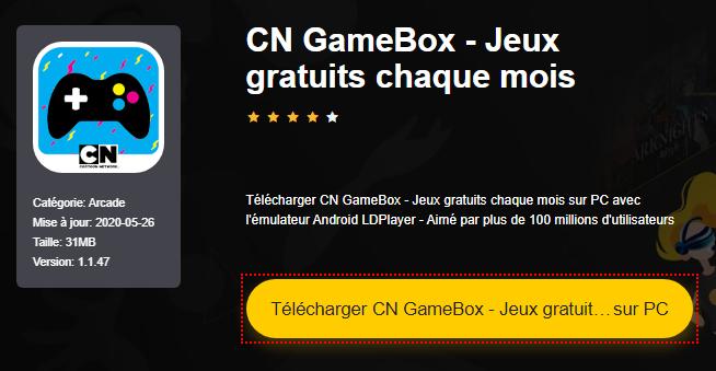 Installer CN GameBox - Jeux gratuits chaque mois sur PC