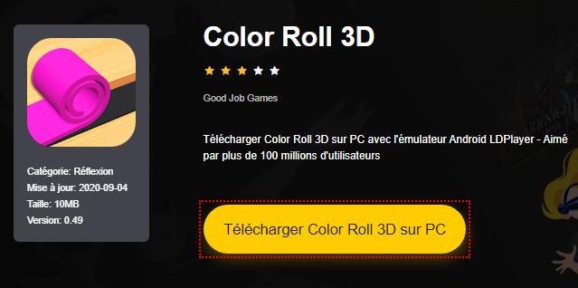 Installer Color Roll 3D sur PC