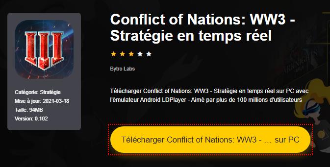 Installer Conflict of Nations: WW3 - Stratégie en temps réel sur PC