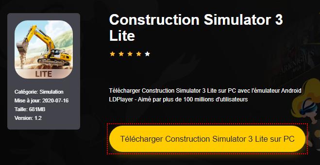 Installer Construction Simulator 3 Lite sur PC