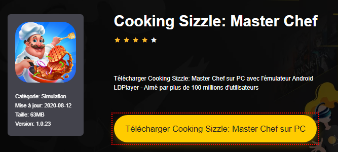 Installer Cooking Sizzle: Master Chef sur PC