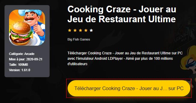 Installer Cooking Craze - Jouer au Jeu de Restaurant Ultime sur PC
