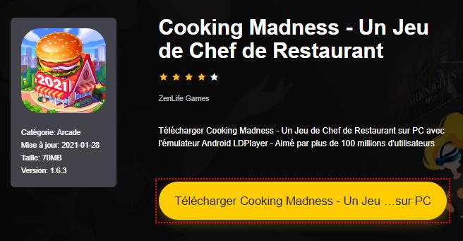 Installer Cooking Madness - Un Jeu de Chef de Restaurant sur PC