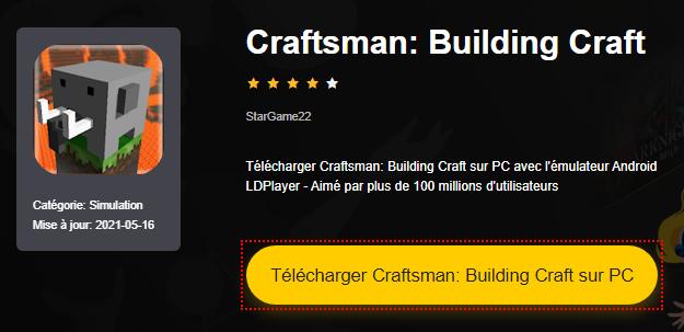 Installer Craftsman: Building Craft sur PC