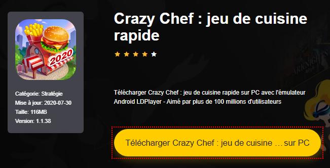 Installer Crazy Chef : jeu de cuisine rapide sur PC
