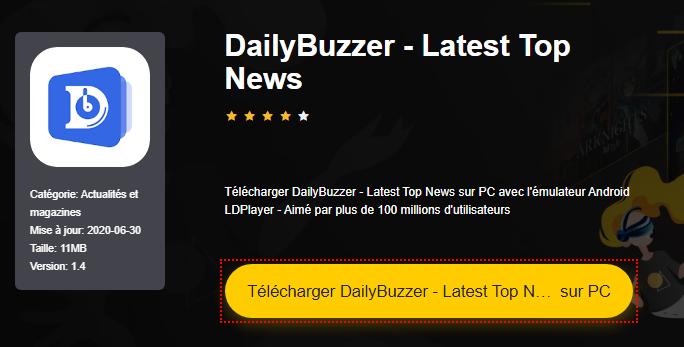Installer DailyBuzzer - Latest Top News sur PC