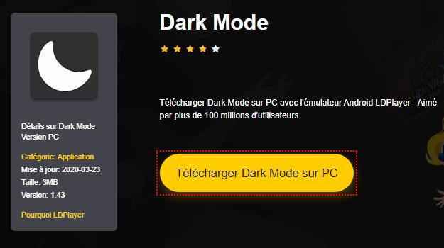 Installer Dark Mode sur PC