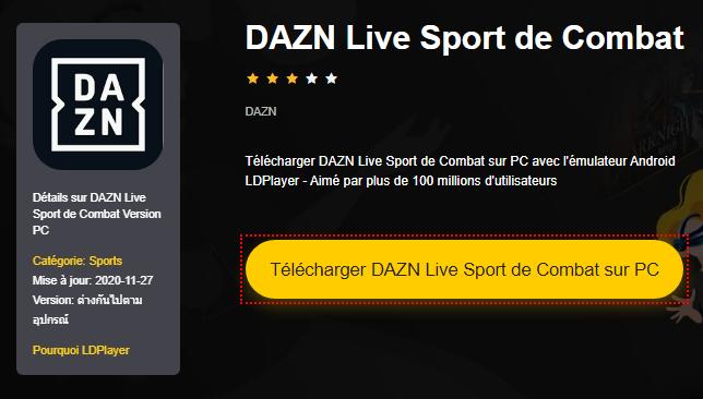 Installer DAZN Live Sport de Combat sur PC
