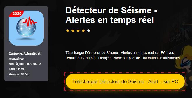 Installer Détecteur de Séisme - Alertes en temps réel sur PC