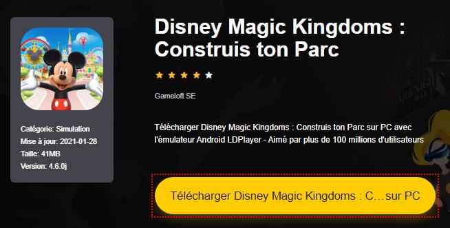 Installer Disney Magic Kingdoms : Construis ton Parc sur PC