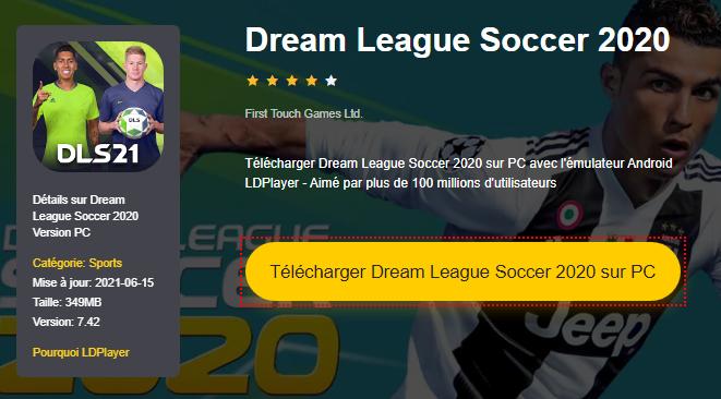 Installer Dream League Soccer 2020 sur PC