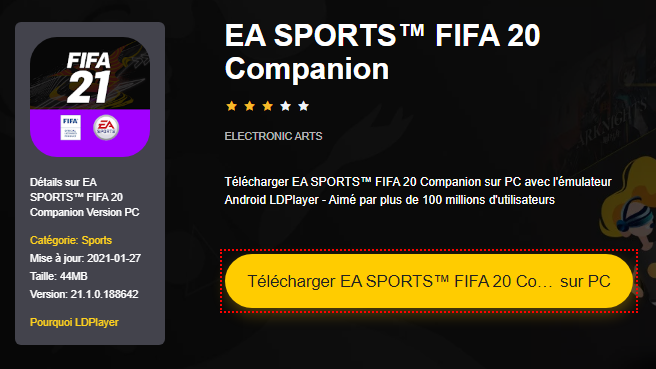 Installer EA SPORTS™ FIFA 20 Companion sur PC