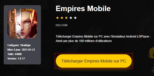 Installer Empires Mobile sur PC