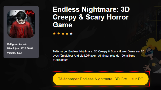 Installer Endless Nightmare: 3D Creepy & Scary Horror Game sur PC