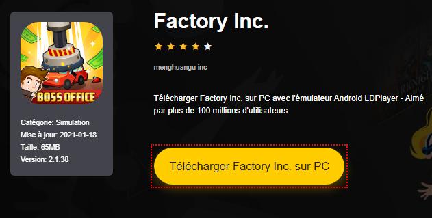 Installer Factory Inc. sur PC