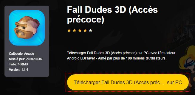 Installer Fall Dudes 3D (Accès précoce) sur PC