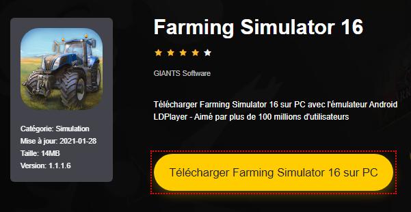 Installer Farming Simulator 16 sur PC