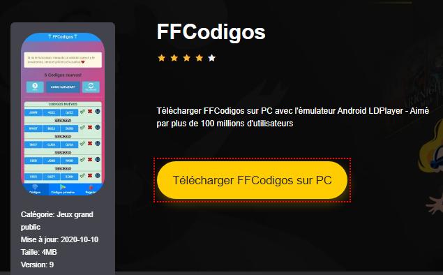 Installer FFCodigos sur PC