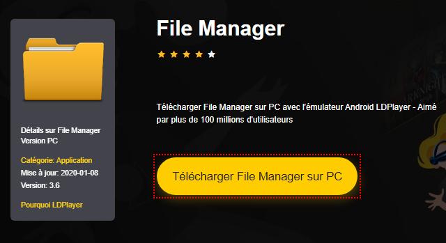Installer File Manager sur PC