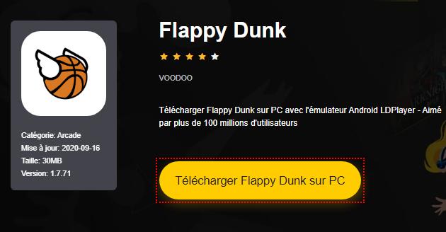 Installer Flappy Dunk sur PC