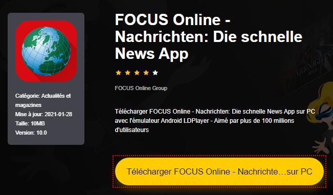 Installer FOCUS Online - Nachrichten: Die schnelle News App sur PC