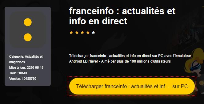 Installer franceinfo : actualités et info en direct sur PC