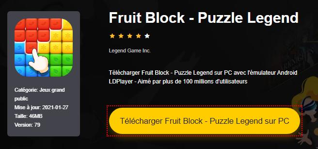 Installer Fruit Block - Puzzle Legend sur PC
