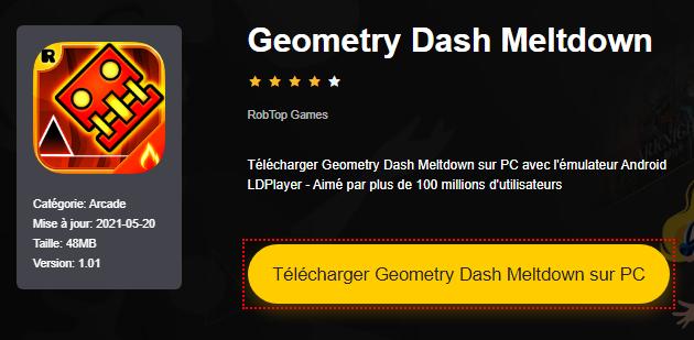 Installer Geometry Dash Meltdown sur PC