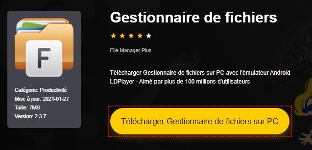 Installer Gestionnaire de fichiers sur PC