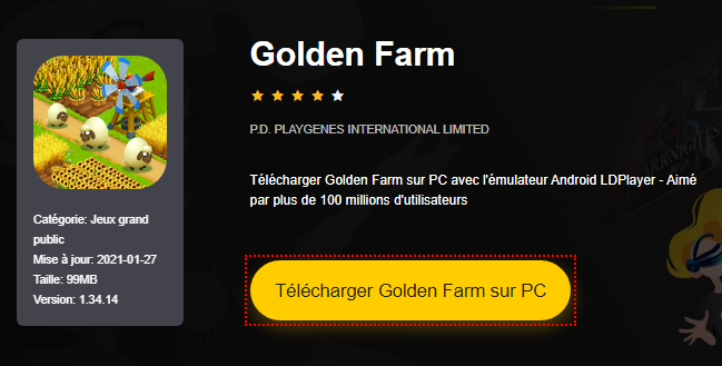 Installer Golden Farm sur PC
