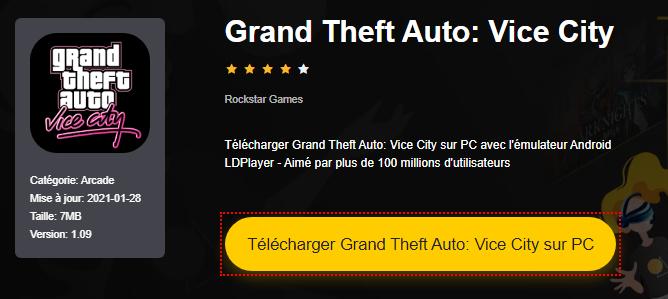 Installer Grand Theft Auto: Vice City sur PC