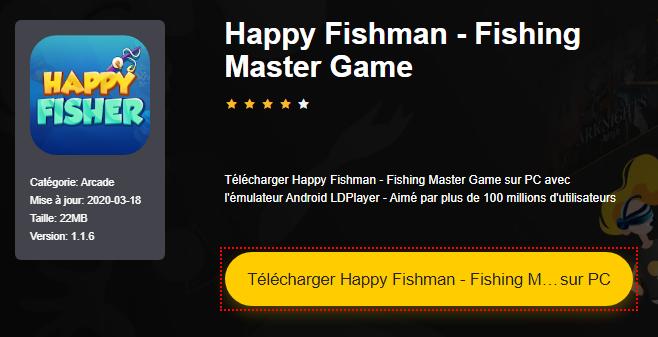 Installer Happy Fishman - Fishing Master Game sur PC