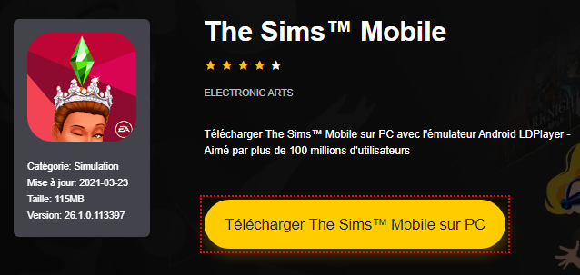 Installer The Sims™ Mobile sur PC
