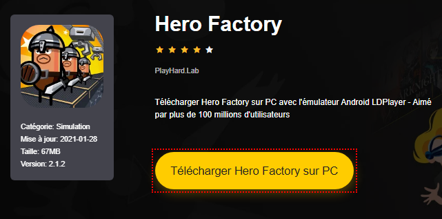 Installer Hero Factory sur PC